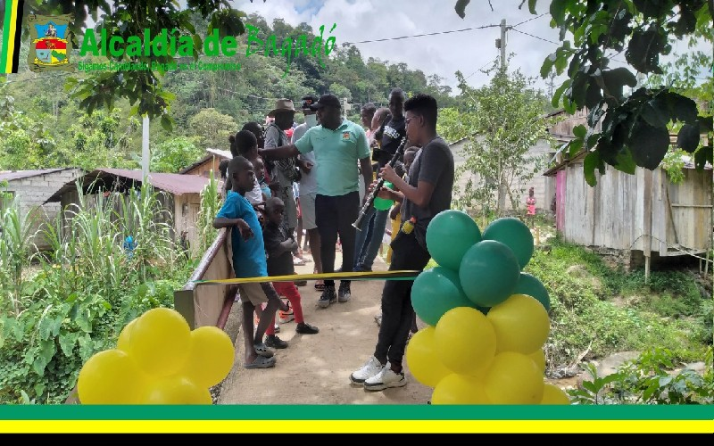 Administración municipal de Bagadó realizó exitosa inauguración de tres nuevas y modernas obras. - Noticias de Colombia